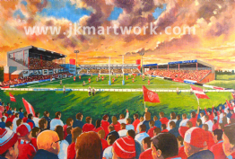 Hand Painted original of craven park